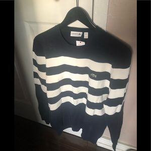 Lacoste mens cotton sweater